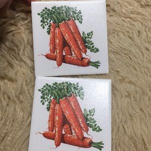 Carrot Tile Plaque Hot Plate Coaster